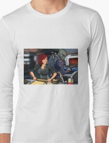 Mass Effect Cartoon - Cookie Time Long Sleeve T-Shirt