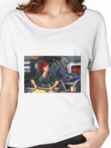 Mass Effect Cartoon - Cookie Time Women's Relaxed Fit T-Shirt