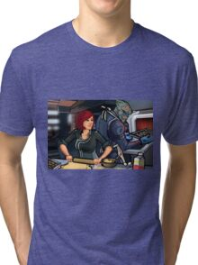 Mass Effect Cartoon - Cookie Time Tri-blend T-Shirt