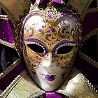 Purple Mask from Venice by Caroline  Freeman