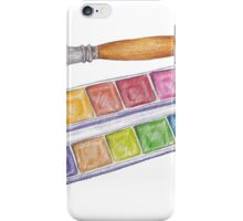 palette with brush iPhone Case/Skin