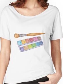 palette with brush Women's Relaxed Fit T-Shirt