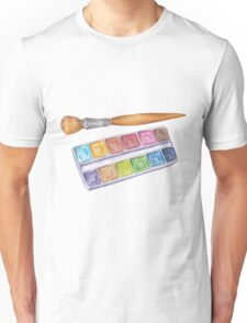 palette with brush Unisex T-Shirt