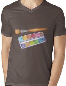 palette with brush Mens V-Neck T-Shirt