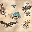 Football Tattoo Flash by FOTOGiNK