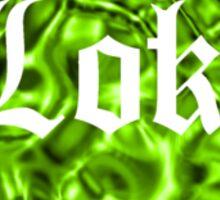 Love Loki on Black (Grass-Green Liquid Metallic) Sticker