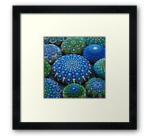 Cool Tone Mandala Stone Collection Framed Print