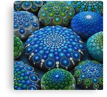 Cool Tone Mandala Stone Collection Canvas Print
