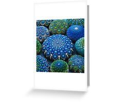 Cool Tone Mandala Stone Collection Greeting Card