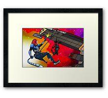 Mass Effect Cartoon - Husk Attack Framed Print