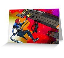 Mass Effect Cartoon - Husk Attack Greeting Card