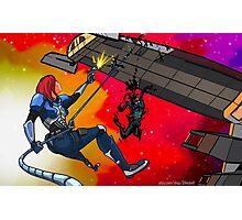 Mass Effect Cartoon - Husk Attack Photographic Print