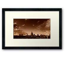 View across the Millennium Bridge, London Framed Print
