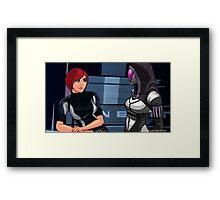 Mass Effect Cartoon - Tali Framed Print