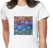 Rainbow Mandala Stone Collection Womens Fitted T-Shirt