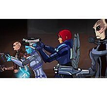 Mass Effect Cartoon - An Attack on the Cerberus Base Photographic Print