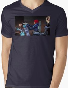 Mass Effect Cartoon - An Attack on the Cerberus Base Mens V-Neck T-Shirt