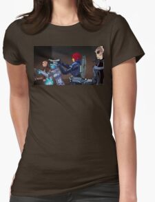Mass Effect Cartoon - An Attack on the Cerberus Base Womens Fitted T-Shirt