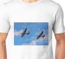 Lancasters PA474 & FM213 in line astern Unisex T-Shirt