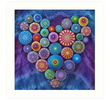 Love Rocks Mandala Stone Collection by Elspeth McLean Art Print