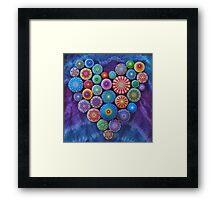 Love Rocks Mandala Stone Collection by Elspeth McLean Framed Print
