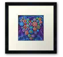 Love Rocks Mandala Stone Collection by Elspeth McLean Framed Print