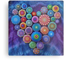 Love Rocks Mandala Stone Collection by Elspeth McLean Metal Print