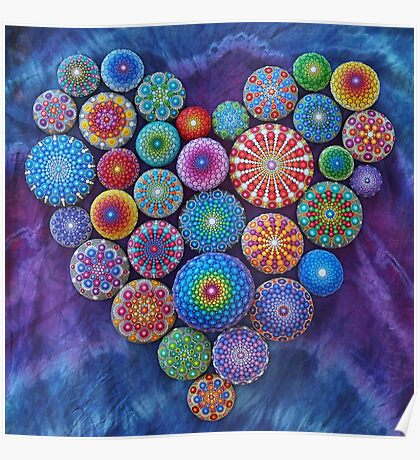 Love Rocks Mandala Stone Collection by Elspeth McLean Poster
