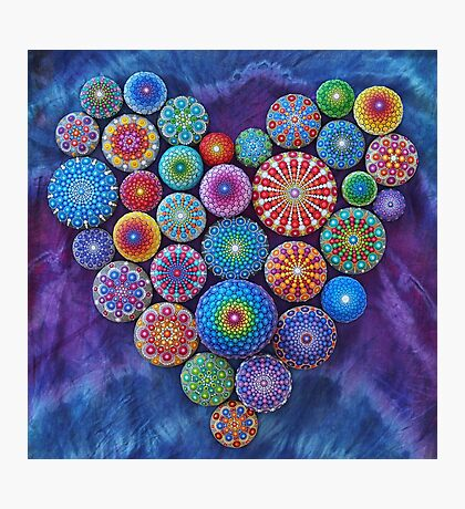 Love Rocks Mandala Stone Collection by Elspeth McLean Photographic Print