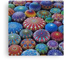 Jewel Drop Mandala Stone Collection #2 Canvas Print