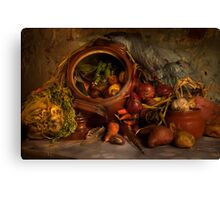 Stewpot with home grown vegetables Canvas Print