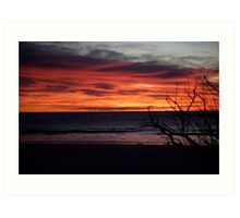 skyscapes #55, ablaze Art Print