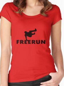 Freerun vault geek funny nerd Women's Fitted Scoop T-Shirt