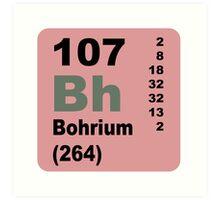 Bohrium Periodic Table of Elements Art Print