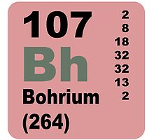 Bohrium Periodic Table of Elements by walterericsy