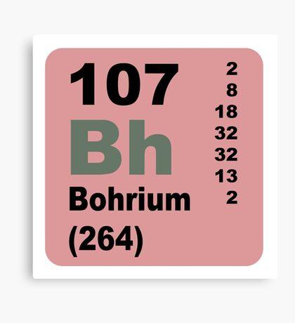 Bohrium Periodic Table of Elements Canvas Print