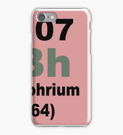 Bohrium Periodic Table of Elements iPhone Case/Skin