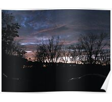 Night Skyline in the Country Poster