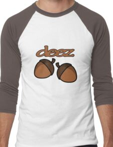 Funny deez nuts geek funny nerd Men's Baseball ¾ T-Shirt
