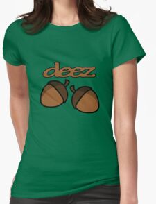 Funny deez nuts geek funny nerd Womens Fitted T-Shirt