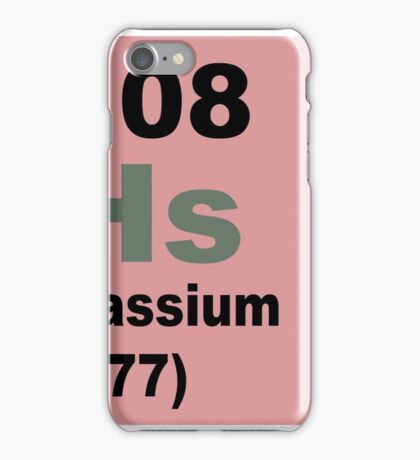 Hassium Periodic Table of Elements iPhone Case/Skin