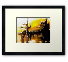 wild,free and crazy abstraction Framed Print