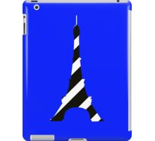 Girly black white french eiffel tower mod stripes geek funny nerd iPad Case/Skin