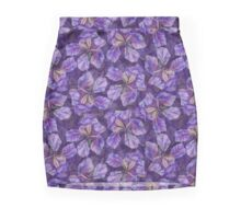 Iris watercolor pattern Mini Skirt