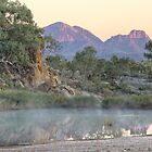 Finke River Mist by Steven Pearce