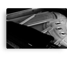 Grand Piano in Black and White Canvas Print