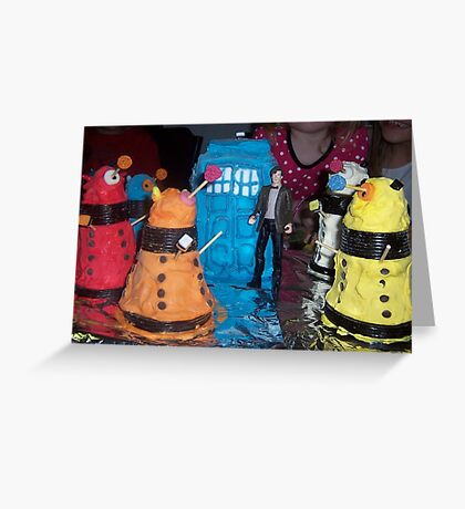 FREEZE! or you will be exterminated Greeting Card
