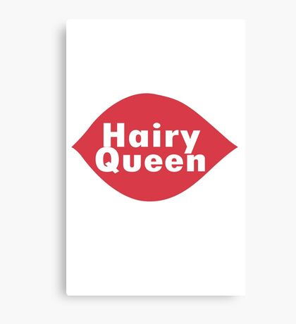 Hairy queen parody logo geek funny nerd Canvas Print
