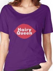 Hairy queen parody logo geek funny nerd Women's Relaxed Fit T-Shirt