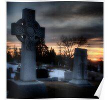 Eerie Cemetery Poster